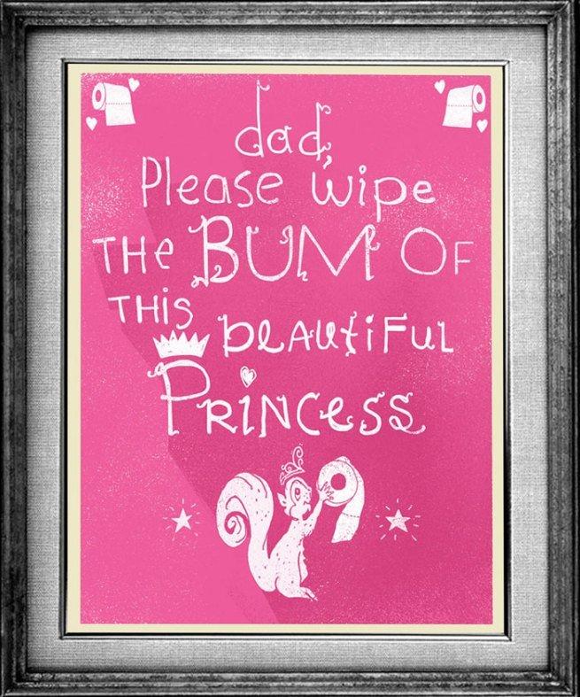 Zrobił plakaty ze słów swojej 3-letniej córki 13