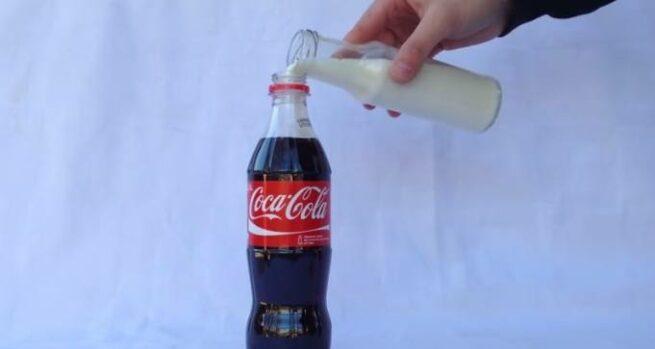 cola z mlekiem
