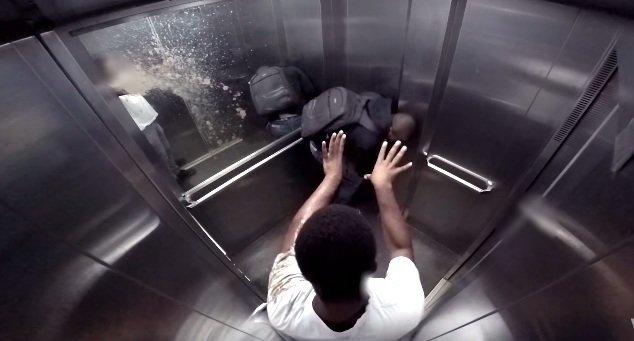 biegunka w windzie