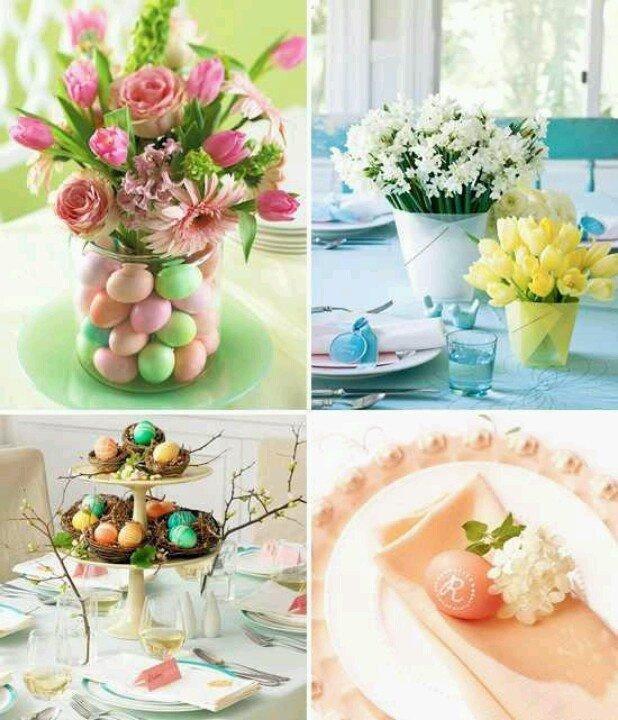 Różne dekoracje na Wielkanocny stół 1