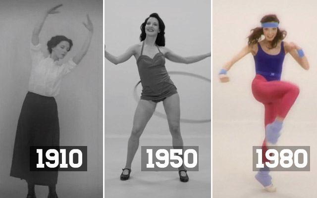 Sto lat fitnessu w stu sekundach filmiku