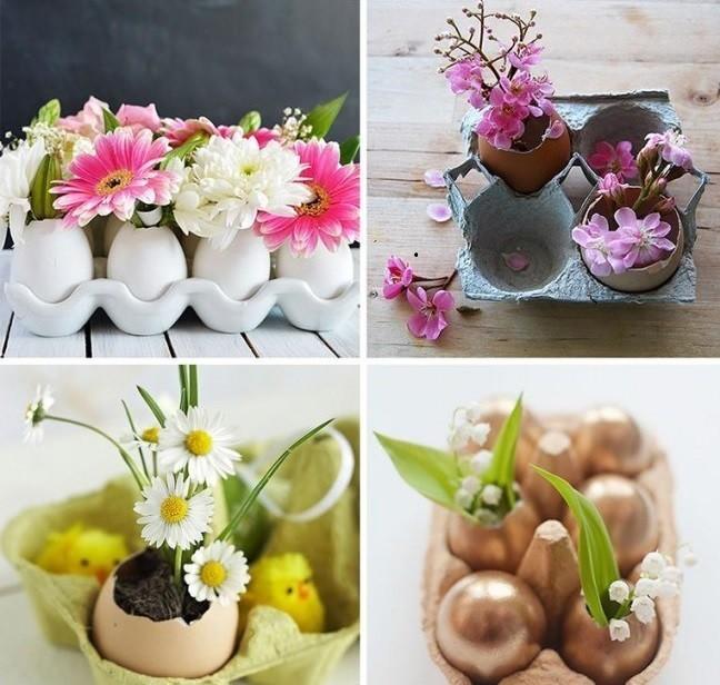 Wielkanocne doniczki ze skorupek jaj 7