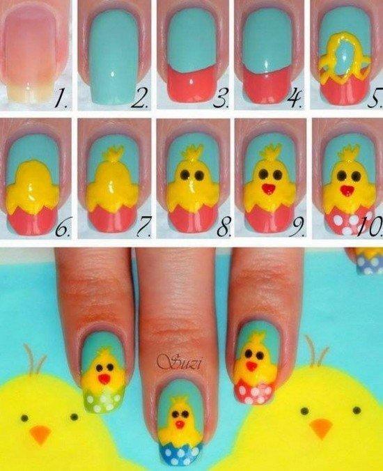 wielkanocne manicure 113