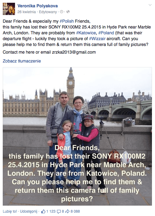 polska rodzina zgubila aparat