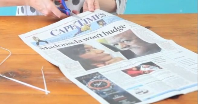 koszyk z gazety