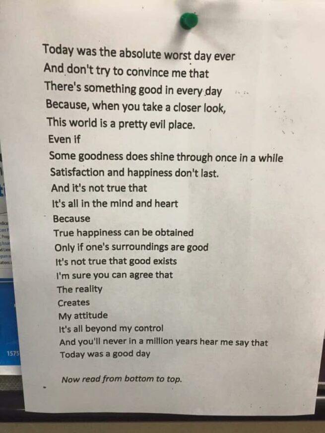 Wiersz o złym dniu zwykłej dziewczyny stał się sławny w całym USA