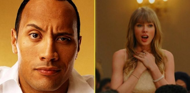 dwayne johnson tylor swift