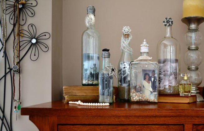 wykorzystanie szklanych butelek